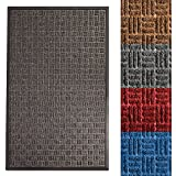 casa pura Entrance Mat | Embossed Front Door Mat | Indoor and Outdoor Entry Rug | Many Colors & Sizes