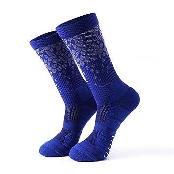 Calcetines deportivos para hombres Calcetines de baloncesto de los hombres calcetines altos Patrón de panal calcetines