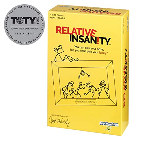 Amazoncom Relative Insanity Party Game About Crazy Relatives