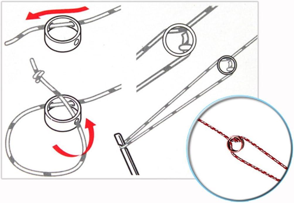 Tensores Aleaci/ón Aluminio Corredor de Cuerda para Tienda de Campa/ña Senderismo al Aire Libre #001 MUUZONING 10 pcs aleaci/ón de Aluminio de 3 Agujeros Anillo para la Cuerda Cable de Antideslizante