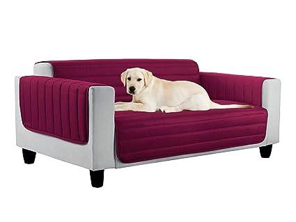 HomeLife – Funda para sofá Acolchada de Dos plazas, Tres o Cuatro plazas – Funda Reversible – Funda para sofá y protección contra el Polvo, Manchas, ...