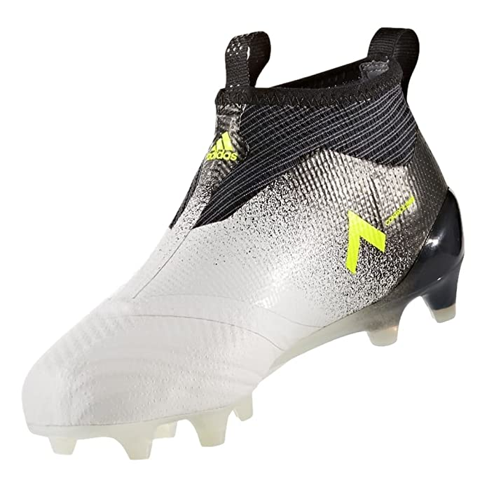 the latest 04a64 de1d6 Amazon.com  adidas ACE 17+ PURECONTROL Youth Firm Ground Cleats FTWWHT (4)   Soccer