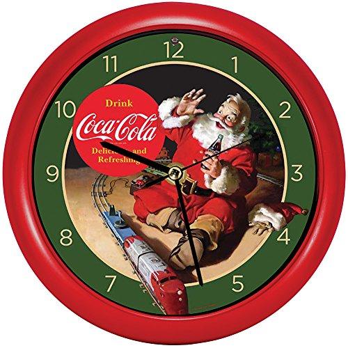 (Songbird Essentials Christmas Coca Cola Delicious and Refreshing Santa Claus Clock - Wall & Desk)