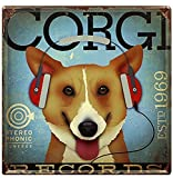 FLY SPRAY Decorative Signs Tin Metal Iron CORGI Sign Painting For Wall Home Office Bar Coffee Shop