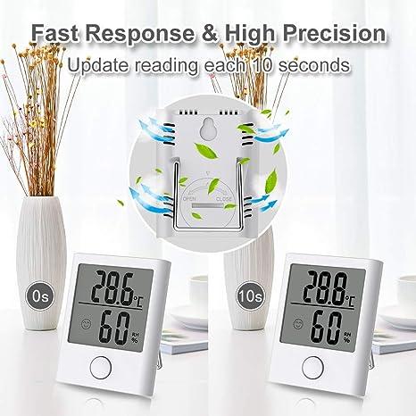 Baldr B0341 Hygrometer Innen Digital Tragbares Thermometer Hygrometer Innen Ausen Raumthermometer Hydrometer Feuchtigkeit Mit Hohen Genauigkeit Komfortanzeige Für Babyraum Wohnzimmer Büro Usw Garten