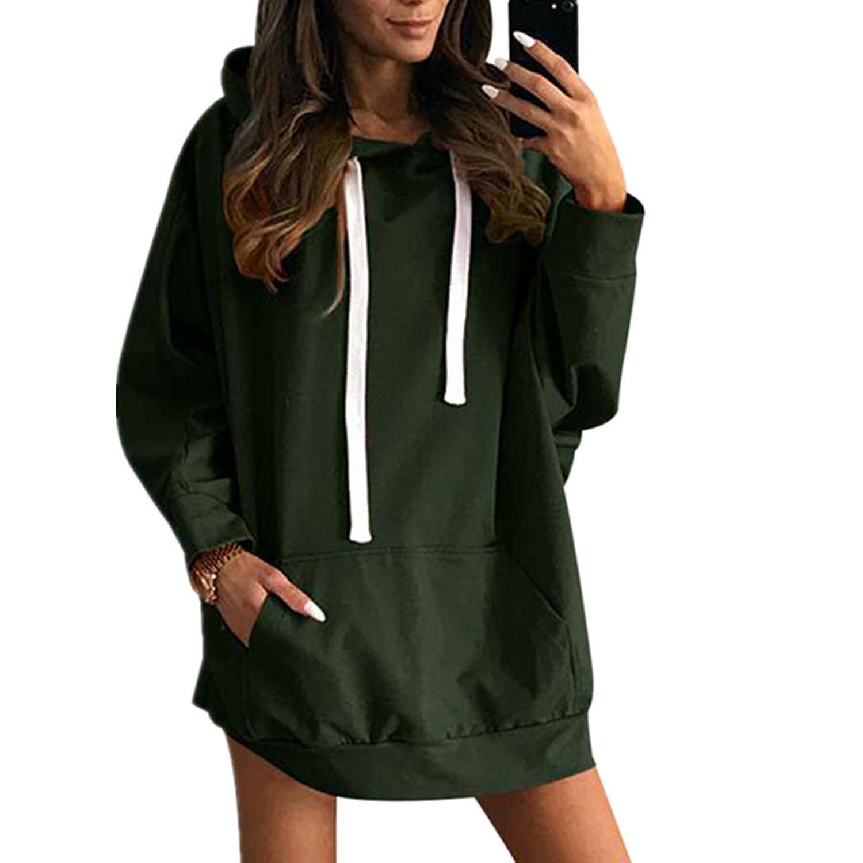 XWDA Womens Spring Long Sleeve Fleece Pullover Casual Hoodie Sweatshirts