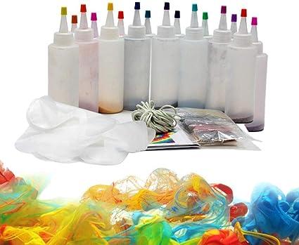 Lizefang 8/18 Color DIY Tie-Dye DIY Kit con Bandas de Goma ...