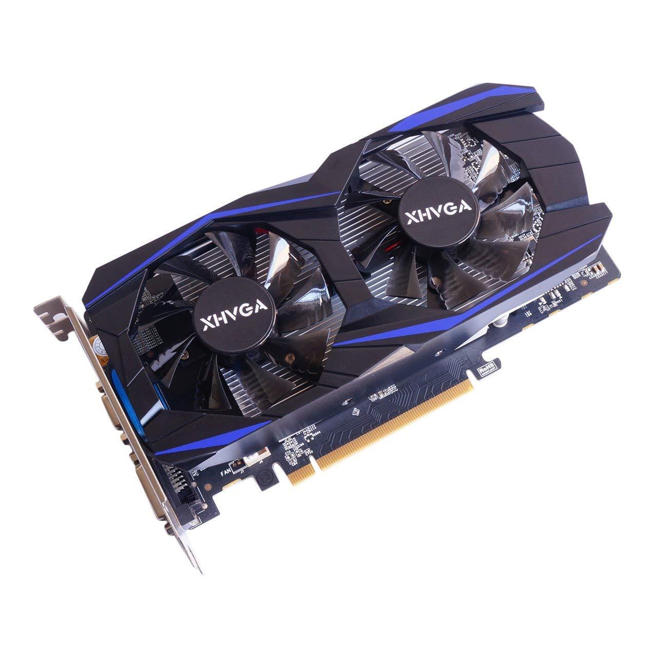 Wokee AMD ATI Radeon HD7670 4 GB DDR5 128 Bit Pci-Express unabh/ängige,passiv Grafikkarte HDMI + VGA + DVI, 4GB 40 NM Speicher, 650 MHz