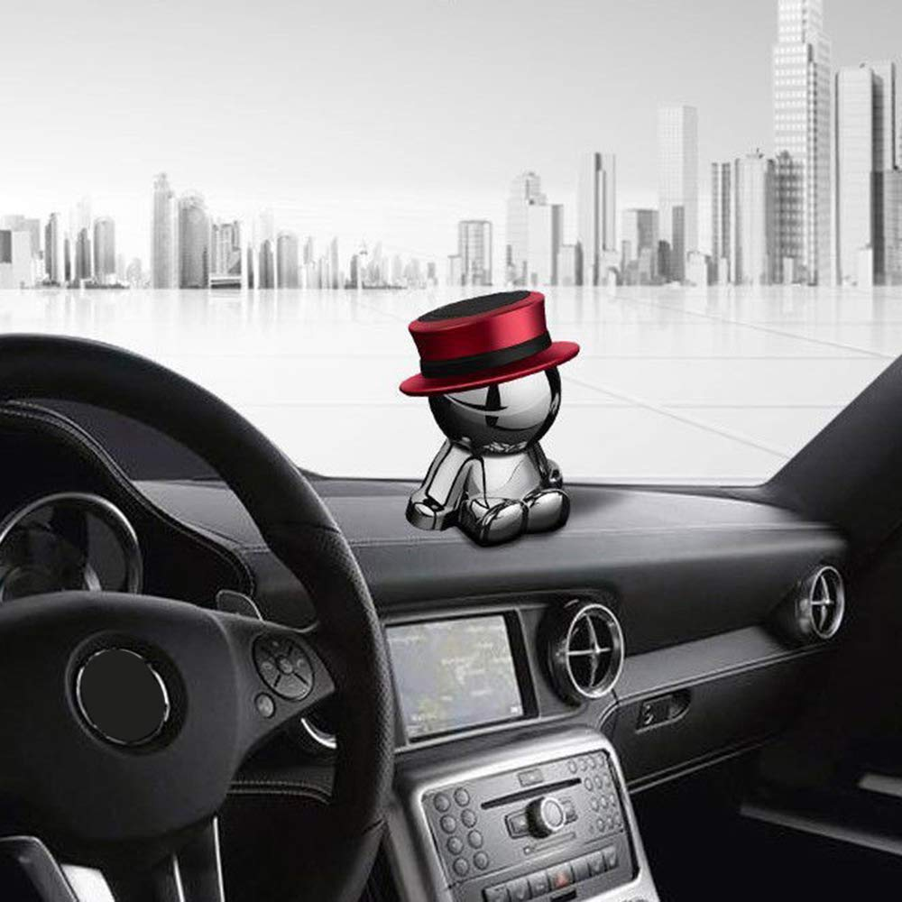Red HIYAZONE Magnetic Car Mount,Unique 360/°Rotate Magnetic Car Holder for Cellphone,GPS and Light Tablet|One-Hand /& One-Sec Dash Holder