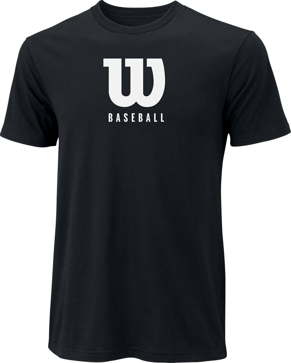 ウィルソンW野球メンズ野球/ソフトボールTシャツ B075Y32JJDブラック Medium
