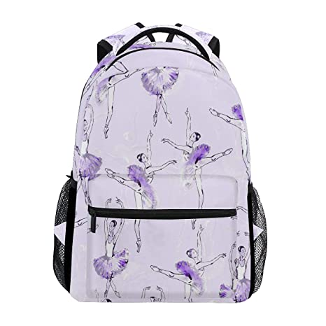 Amazon.com: Ballet Ballerinas Mochila Impermeable Escolar ...