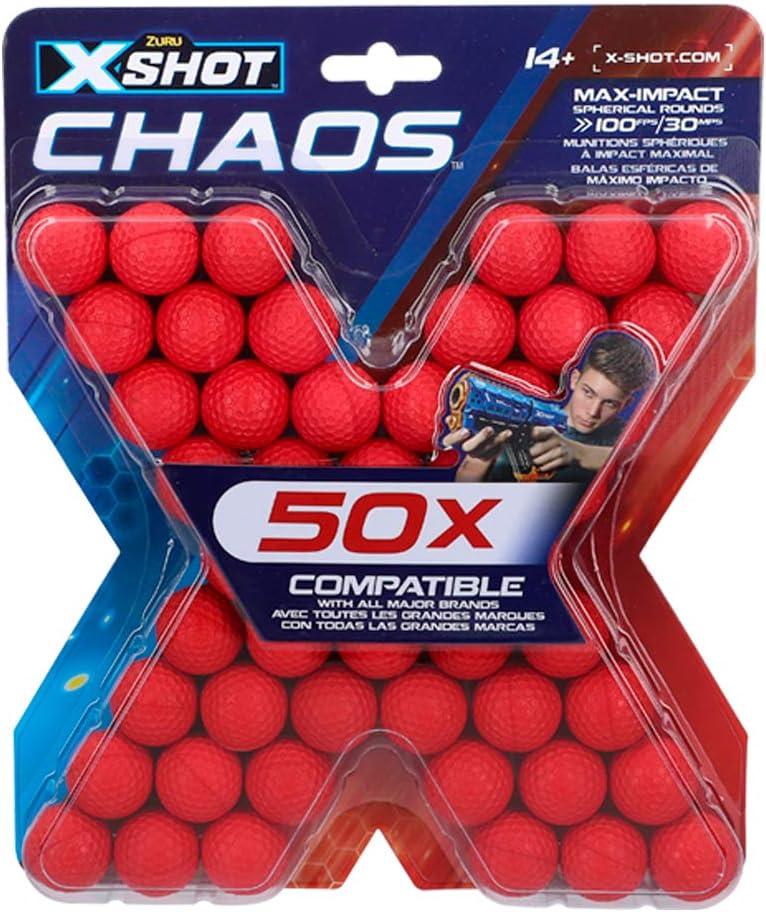 X-Shot - Pack 50 pelotas munición X-Shot Chaos (46275)