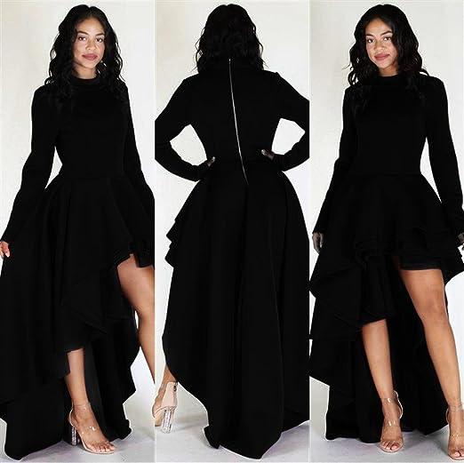 Women Short Sleeve High Low Peplum Dress
