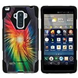 MINITURTLE Case Compatible w/ LG Stylo Phone Case, Armor Cover SHOCK Impact Stand Case w/ Customized Designs for LG G Stylo LS770, H631, MS631, LG G4 Stylus Rainbow Vortex