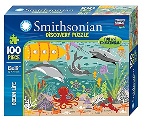 Smithsonian 100-piece Ocean Life Discovery Puzzle (Educational Toys Kindergarten)
