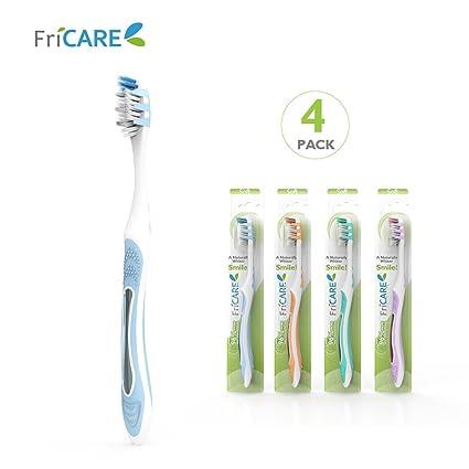 fricare Full Head cepillo de dientes manual para adultos tamaño con dientes blanqueamiento suave cerdas,
