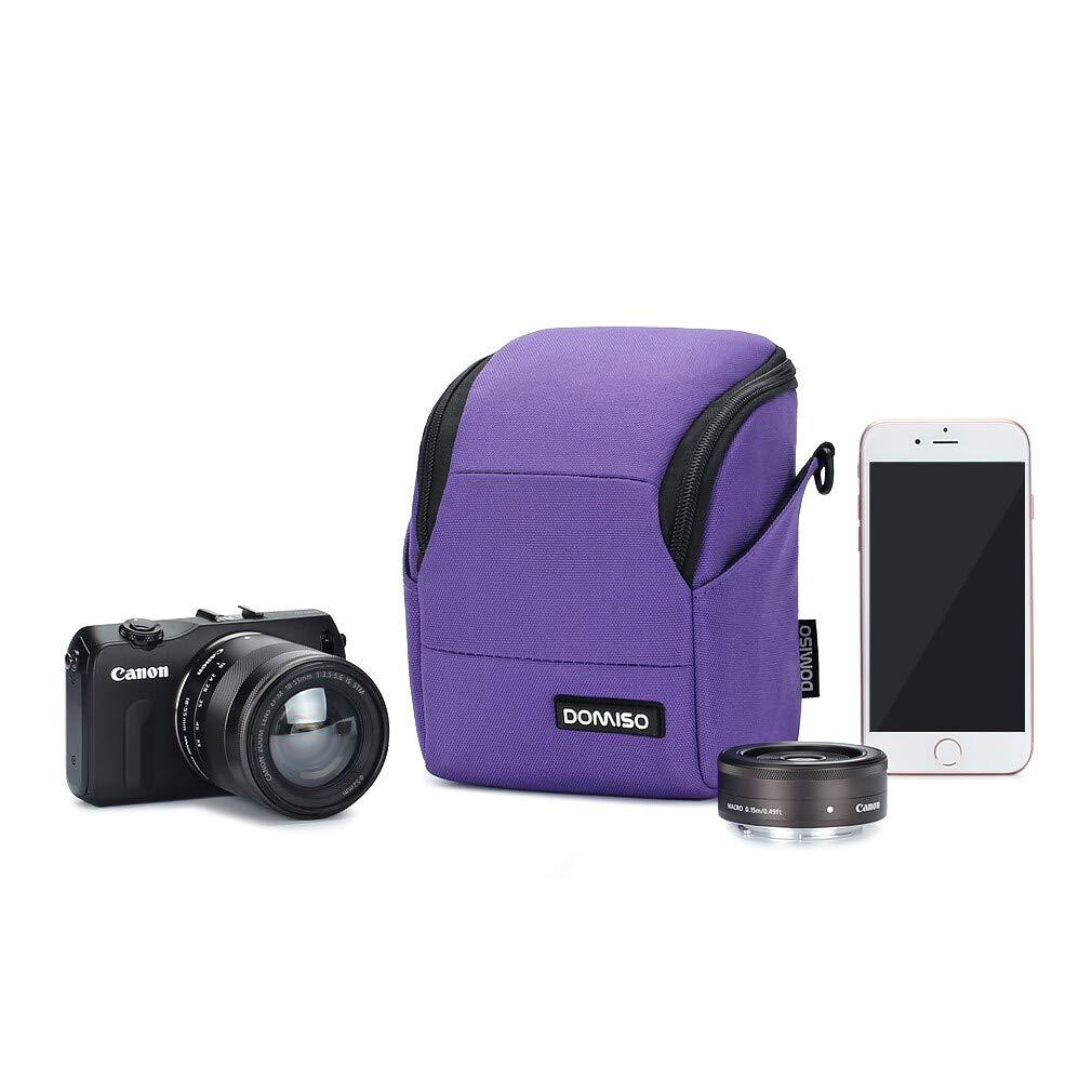 protecci/ón para Canon EOS M6, M5, M3, M10, PowerShot SX540, HS SX430, I//Sony A6500 A6300 A6000 A5100//Nikon 1 J5 Coolpix B700 B500//Olympus E-PL 8 Domiso Funda para c/ámara de Fotos compacta