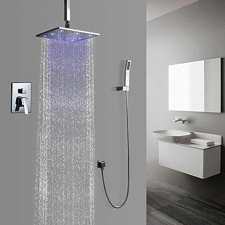 Modern Rainshower Head /& Handshower /& Tub Spout Chrome Shower Set Free Shipping