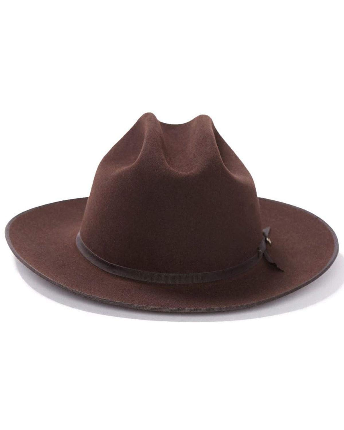 Stetson Men's 6X Open Road Fur Felt Cowboy Hat Chocolate 7 1/8
