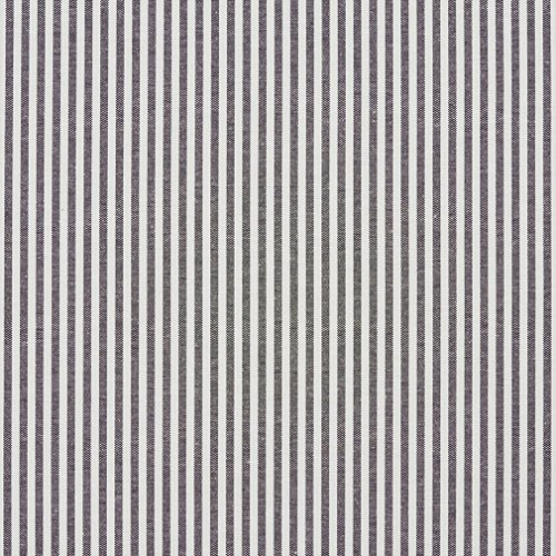 A566 Black And White Ticking Stripes Cotton Heavy Duty Upholstery Fabric By The (Timeless Ticking Stripe)