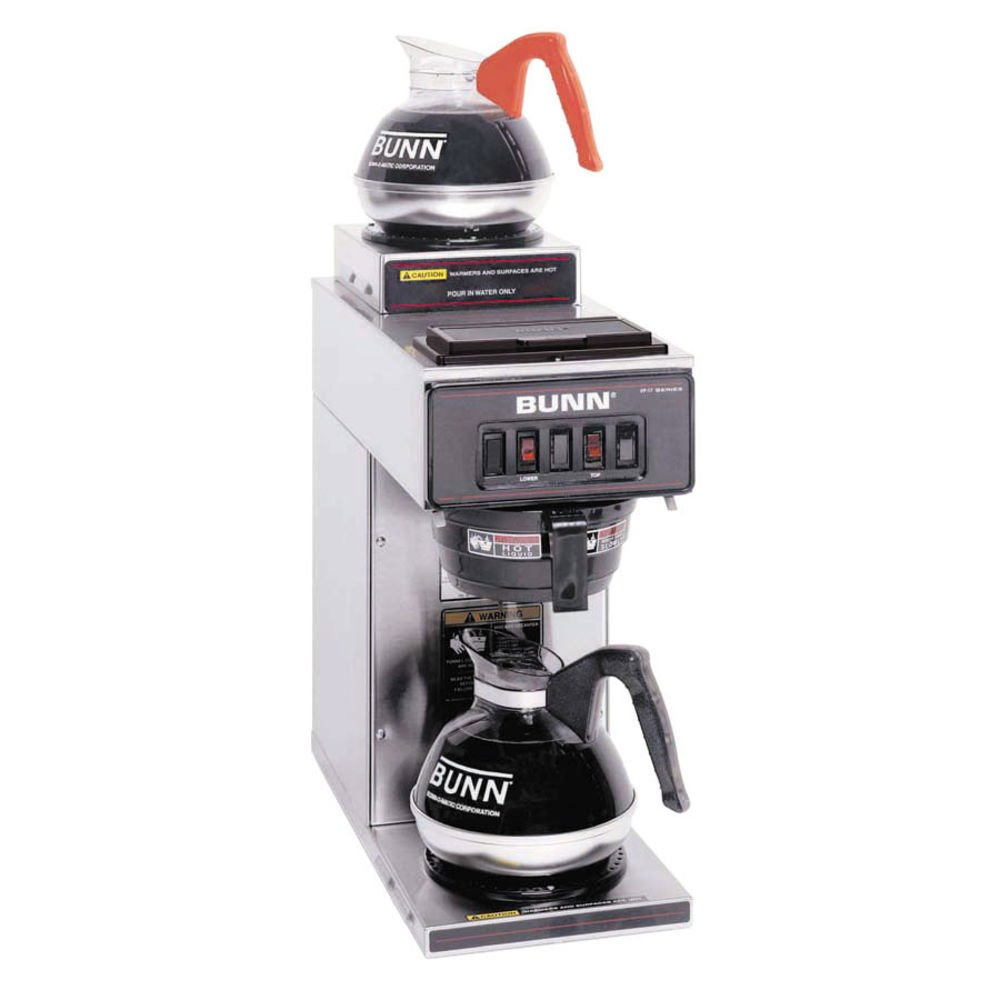 BUNN 13300.0002 Low-Profile Pourover Coffee Brewer with 2 Warmers