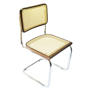 Amazon.com: Caña de Marcel Breuer Cesca cromado Side Chair ...