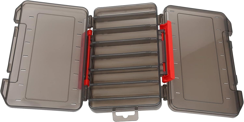 Eosnow Caja de señuelos, contenedor de señuelos de Pesca Caja Transparente Cuerpo Duradero DISEÑO DE Hebilla Grande Caja de conservación de anzuelos de Pesca con Hebilla Accesorio de Pesca para