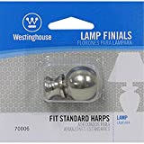 Westinghouse 7000600 Brushed Nickel Finish Ball Lamp Finial