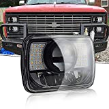 88 toyota pickup turn signal lens - T-Former DOT 5X7 7X6 Hi/Lo Sealed Beam LED Headlamp w/DRL Amber Turn Signal Replace Hid Xenon Halogen H6054 Headlights for Jeep Wrangler Cherokee XJ YJ Ford F250 E350 Chevy Corvette Dodge Ram