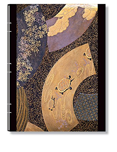 Paperblanks Japanese Lacquer Journals Handstitched Ougi Ultra, 7 in. x 9 in. 128 pages, lined