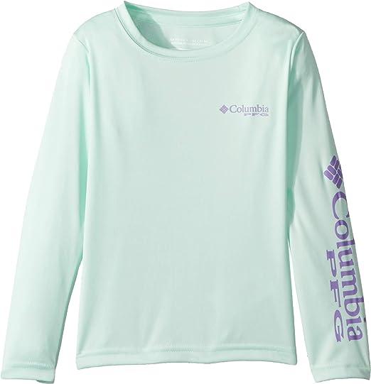 074fa65fd Columbia Toddler Boy's Terminal Tackle Long Sleeve Tee, 3T, Sea Ice/Paisley  Purple