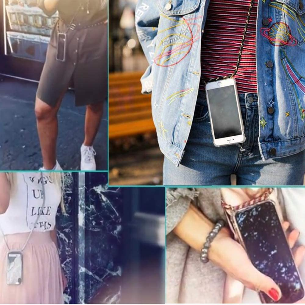 Cover Necklace Bandouili/ère Styl/ée Housse pour Smartphone Lanyard Case Holder /étui de t/él/éphone avec Cordon YuhooTech Collier pour Samsung Galaxy S 9+ Coque Tour de Cou Lani/ère en Corde