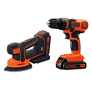 BLACK+DECKER BD2KITCDDS 20V Max Lithium Ion Drill/Driver & Mouse Detail San