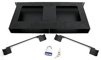 Boîtier haute sécurité de protection rack minilock noir en acier à