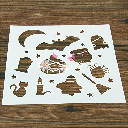2 Pcs Packed Halloween-A Cookie Cake Stencil Decorate Mold Fondant Biscuit Tool