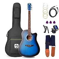 Deals on Vangoa Electric Acoustic Guitar 41 inch Full Size Kit 41ECBL