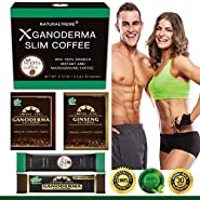 PureGano Ganoderma Slimming Weight Loss & Detox Coffee - 100% Natural Arabica Black Instant Coffee - Appetite Suppressant, Fat Burner & Metabolism Booster - 30 Day Supply + 4 Bonus Samples