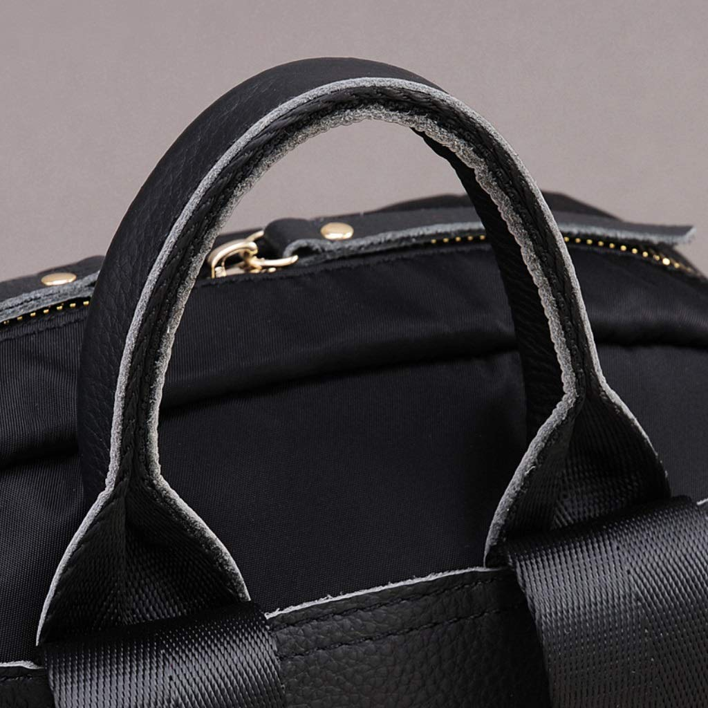 Color : Black ZYqi Oxford Cloth Waterproof Backpack Female Korean Sports Travel Backpack Casual Large Capacity Men and Women Shoulder Bag