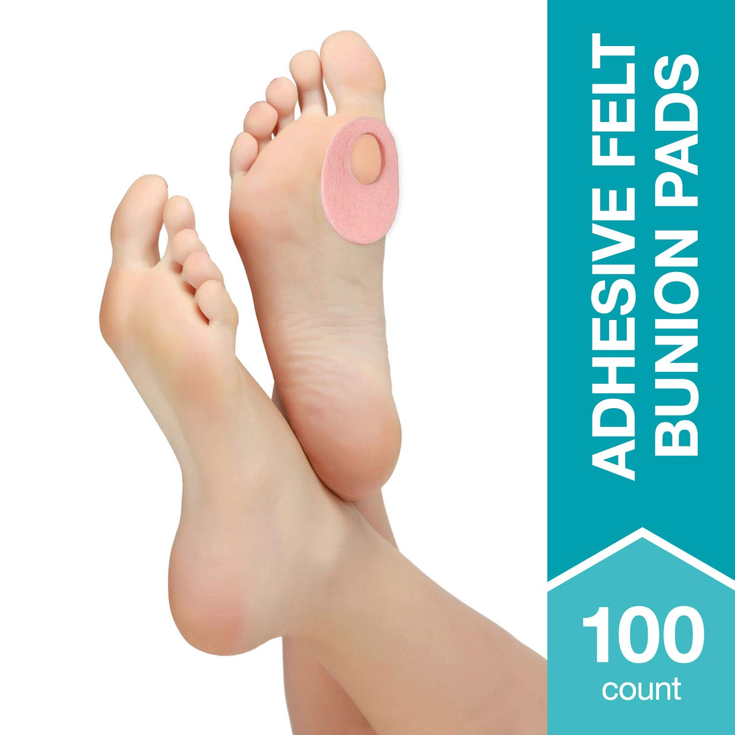 Steins Adhesive Felt Bunion Pads, Metatarsal Cushion, Protects Bunions, Callus & Blisters, Alleviates Shoe Friction, BP-12, 1/8'', 100Count by Steins