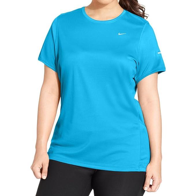 30bef7a6de6 Amazon.com  Nike Women s Miler Short-Sleeve Running Top