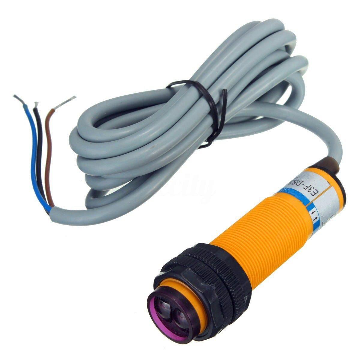SODIAL 12V 24V Adjustable Proximity Switch Photoelectric Detect ...