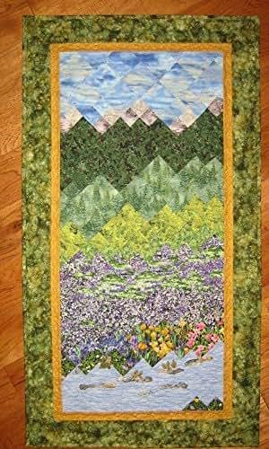 Amazon.com: Art Quilt, Purple Fields and Stream Mountain