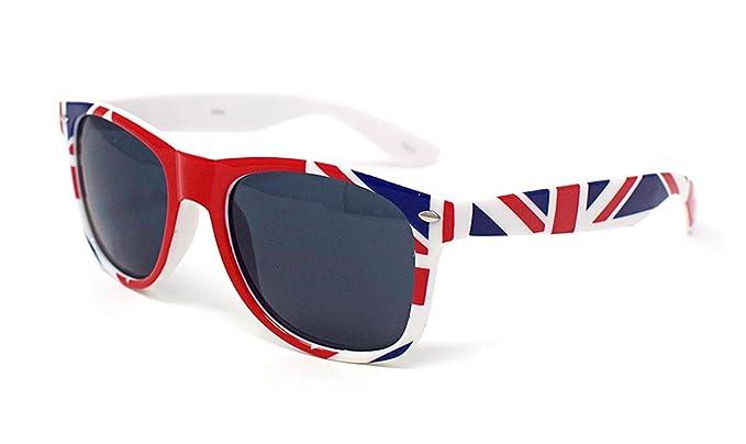 Ultra ® grand drapeau britannique lunettes de soleil Union Jack coloré adultes style classique lunettes de soleil UV400 de haute qualité verres UV400 Classic élégant nuances avec étui de transport MMACInEP