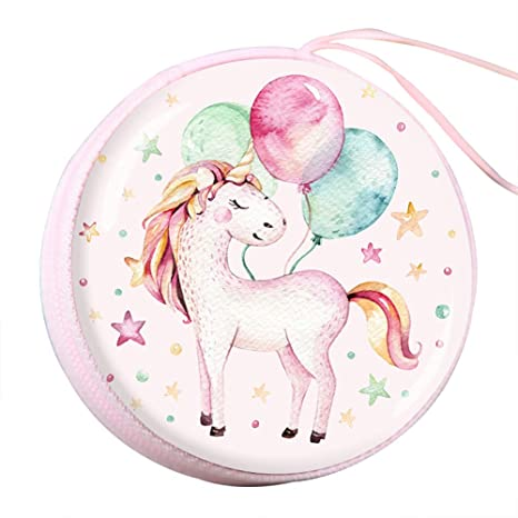 Qinlee Redondo Monedas Carteras Unicornio de Candy Box Niños ...
