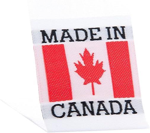 Wunderlabel Drapeau Canada Tisse Tag Vetements Couture Vetements Vetement De Ruban De Tissu A Imprimer Red On White 75 Labels Amazon Fr Cuisine Maison