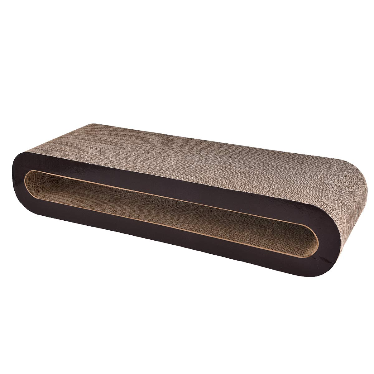 AmazonBasics Oval Cardboard Cat Scratcher Lounger - 34 x 7 x 12 Inches, Large by AmazonBasics