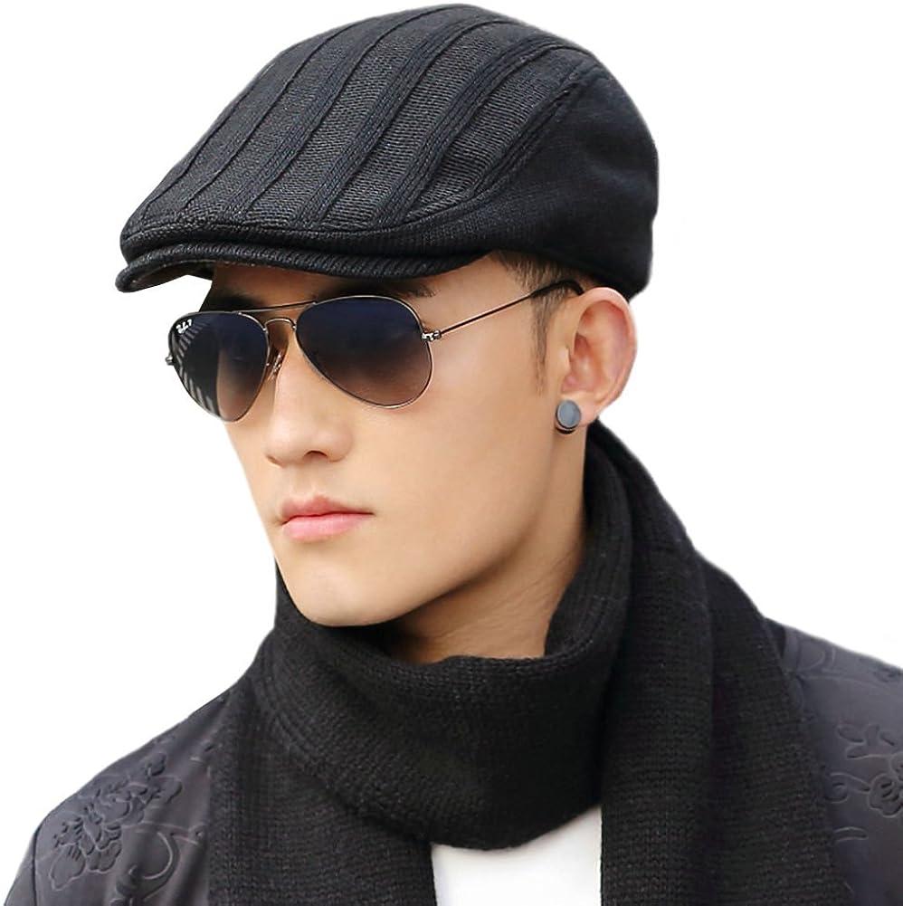 dise/ño de pato color negro Negro Negro/_l 7 3//8 Fancet Gorro de lana irlandesa para hombre