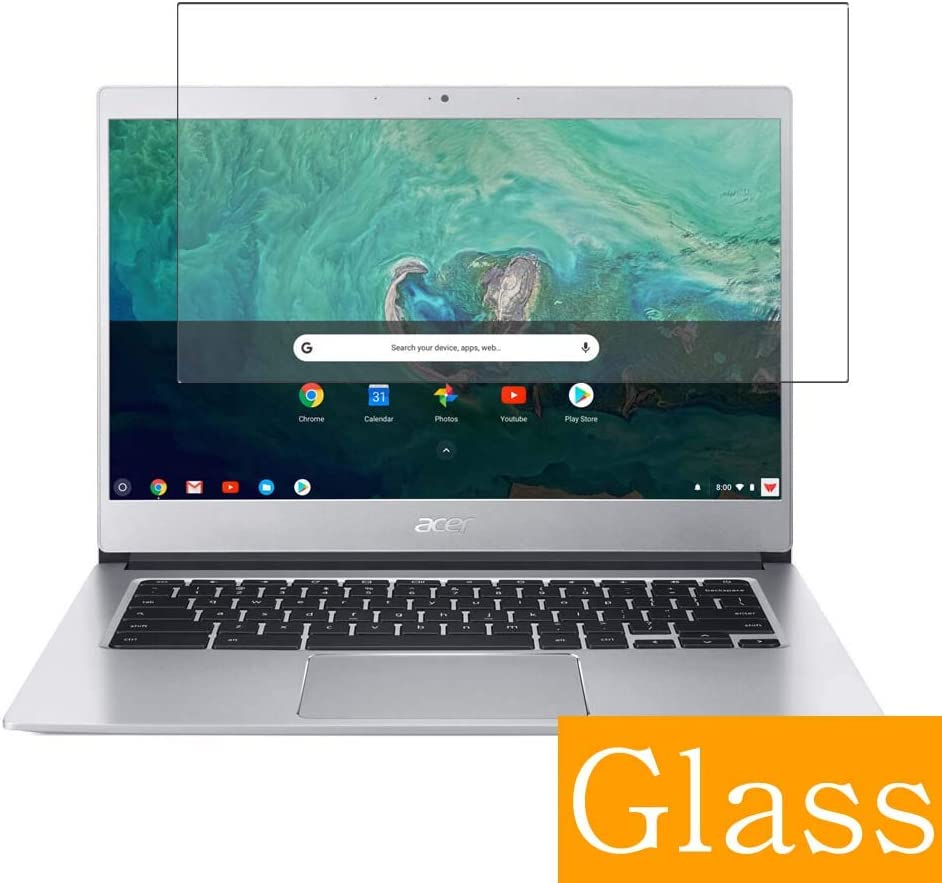 """Synvy Tempered Glass Screen Protector for Acer Chromebook 514 CB514-1H / CB514-1HT 14"""" Visible Area 9H Protective Screen Film Protectors (Not Full Coverage)"""