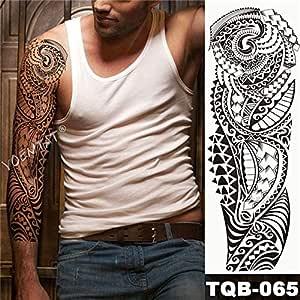 Brazo grande manga tatuaje tótem tatuaje impermeable samurai ...