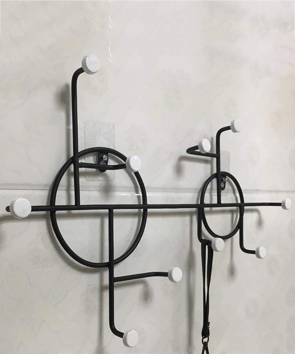 2  Der Coatrack Coat Rack Wall-Mounted Iron Drill or 10 Hooks Hatstand (Size   4 )